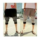 Men's 3/4 Knee Casual Jogger Sport Shorts Baggy Gym Harem Pants RopeTrousersQ298