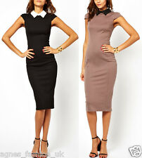 Womens Elegant Vintage Office Wear To Work Party Bodycon Pencil Career Dresses