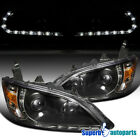 For 2004-2005 Honda Civic R8 Style Led DRL Projector Head Lights Black