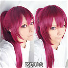 451 Free! Gou Matsuoka Long Purple Cosplay Wig clip ponytail Free shipping