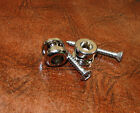 One Pair CHROME Strap Lock Buttons fit Schaller System - Allparts