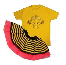 Baby Girl Toddler Sparkle Little Miss Sunshine Yellow Tutu Fancy Dress Party Set