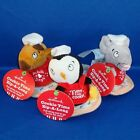 Hallmark - Cookie Time Zip-A-Long Reindeer PENGUIN Mouse - Christmas Plush - NEW
