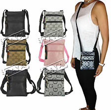 *NEW* Designer Style Ladies Mens Cross Body G Bag Purse Wallet Travel Satchel