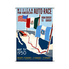 "Mexican Pan-American Auto Race Border to Border 1950 25x38"" glicee canvas"