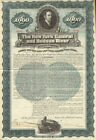 1897 New York Central and Hudson River Railroad $1000 gold bond certificate