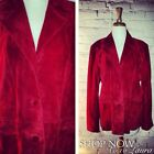 Vintage Jacket Suede Leather Red MOD Hipster Goth Holiday