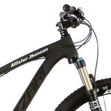 2X Personalised Frame Name for Mountain bike Road Cycling. Custom Stickers m40