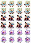 24 PERSONALISED *ICING* Giggle and Hoot Edible Image Cupcake Toppers