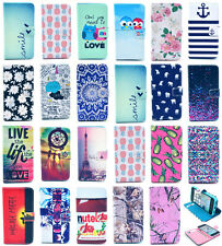 PU Leather Wallet Flip Stand Case Cover Rubber Skin For iPhone 4 5S 5C 6 6 Plus