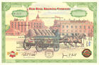 Red Bell Brewing Company beautiful brewery beer stock certificate collectible