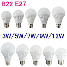 Ultra Bright E27 B22 LED Light Lamp Bulb 3w/5w/7w/9w/12w Cool Warm white Light