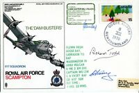 Dambusters RAF Scampton FDC signed by Richard Todd & Pilots UACC