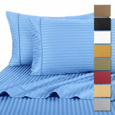 100% Cotton Sateen Ultra-Soft Dobby Striped Sheets