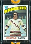 1976-77 Topps Hockey Color Proof Greg Polis NY Rangers