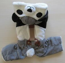 Black White Panda Costume Winter Jumpsuit Dog Clothes M L Xl for Small dog Only