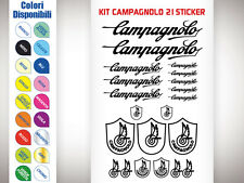 KIT 21 ADESIVI BICI STICKER CAMPAGNOLO BICI CORSA STICKERS MTB CAMPAGNOLO NEW