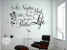 Family Wall Sticker, Inspirational Quote, Positive Life, Vinyl  Wall Art Decal