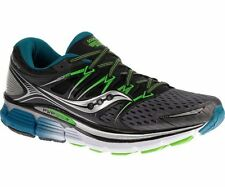 Mens Saucony Triumph ISO Grey/Black/Slime Sport Running Shoes Size 7-15 S20262-4