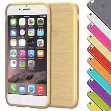 Brushed Cover für Apple iPhone Serie Schutz Hülle Slim Case Silikon TPU Tasche