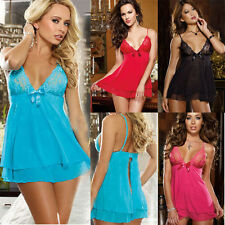 Plus Size Sexy Lingerie Lace Babydoll Dress Sleepwear 6 8 10 12 14 16 18 20