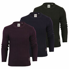 Mens Jumper Brave Soul Cassini Ribbed Knitted Crew Neck Sweater