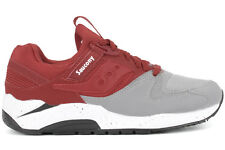 Saucony Grid 9000 S70077-40 New Mens Grey Red Athletic Running Casual Shoes