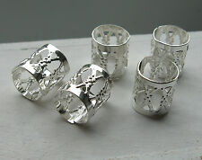 5, 10, 15 or 20 bright silver tone dread hair cuff beads, 8mm approx, adjustable