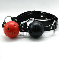 Mouth Ball Gag Harness Bondage Restraints Adult Sex Toy Leather Strap Sale GB