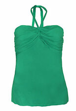 SOUTH BNWT Green Tube Ladies Top Halterneck, Stretch Fit Elastic Chest Size 22