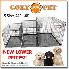 Dog Cage Cozy Pet Puppy Crate Black  5 Sizes Travel Crate Cat FREE 24H Delivery