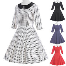 Vintage Rockabilly 50s 60s DOLL COLLAR pin up Housewife Swing Prom EVENING Dress