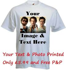 Your Image Photo Here - Custom T Shirt Printing Personalised Stag Hen Party