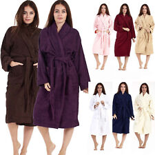 Egyptian Cotton Bathrobe Ladies Bath Robe Women Men Towelling long Dressing Gown