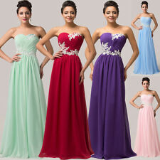 GK BIG CHEAP Long Bridesmaid prom dress Wedding Cocktail evening Party Ball Gown