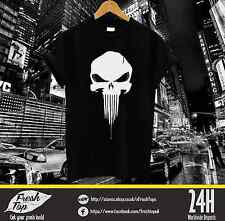 Le punisher sang qui coule logo tshirt tee tumbrl Gym Muscle formation Crâne
