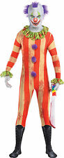 Evil Clown spaventosa partito Vestito Halloween Spandex Fancy Dress Costume adulto uomo