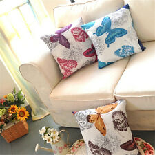 "Fashion 17*17"" Butterfly Sofa Throw Pillow Case Classic Cushion Cover Home Decor"