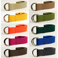 Cavas Web Belts Leather Patch Military O Ring Solid 11Colors GÜRTEL Mens Unisex