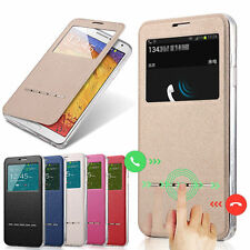 Slim Flip Window View Leather Smart Case Cover For iPhone 5/6 Samsung S5/S6 Note