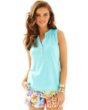 Lilly Pulitzer NWT Essie Top Shorely Blue $54 #97865