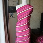 Pure Silk Crepe Fabric 16 Momme Stripe Pattern Sell By Yard