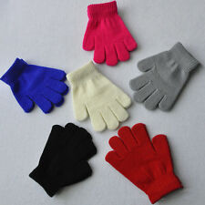 Hot Girls Boys Kids Stretchy Knitted Winter Warm Pick Colour Magic Gloves 2015