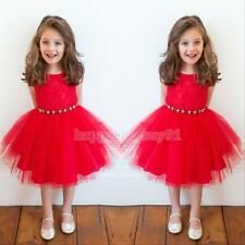 Toddler Girl Xmas Party Outfit Baby Party Christmas Wedding Pageant Flower Dress