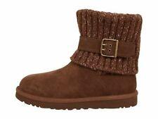UGG Australia Classic Cambridge Knit Suede Boots - Chocolate 1003175 Size 5 - 11