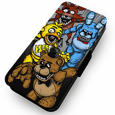Five Nights at Freddys Fan Art 2 Printed Faux Leather Flip Phone Cover Case FNAF