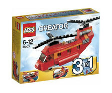 LEGO CREATOR 3 in 1 Red Rotors Helicopter/ Plane/ Hovercraft New in box! Retired