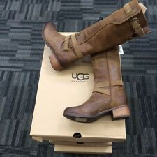 New UGG Darcie Chestnut Brown Leather Tall Riding Boots Size 5, 5.5, 7, 8.5