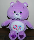 2002 Care Bears Share Bear LOLLIPOP Purple Teddy Plush Toy Stuffed Animal 10""