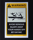 2PCS Warning Decals for your Kayak - Ocean Fishing Canoe Inflatable hobie ediom